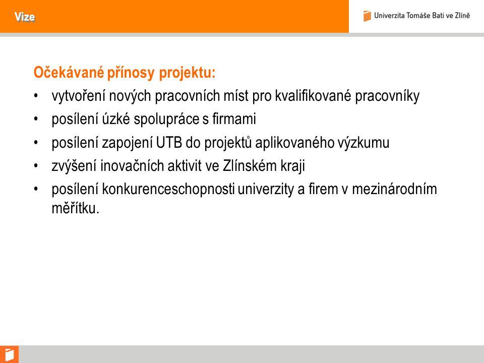 Očekávané přínosy projektu: