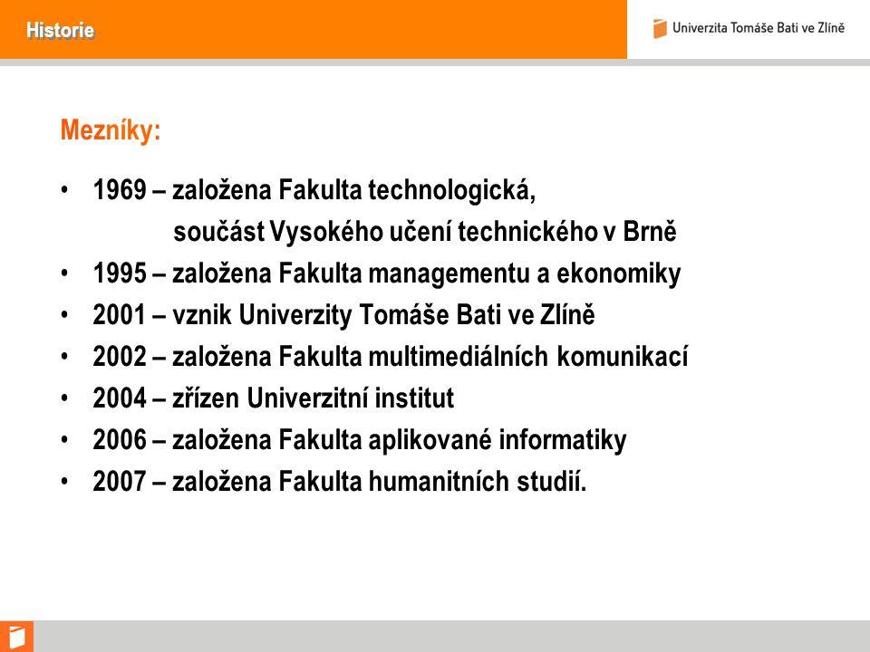 1969 – založena Fakulta technologická,