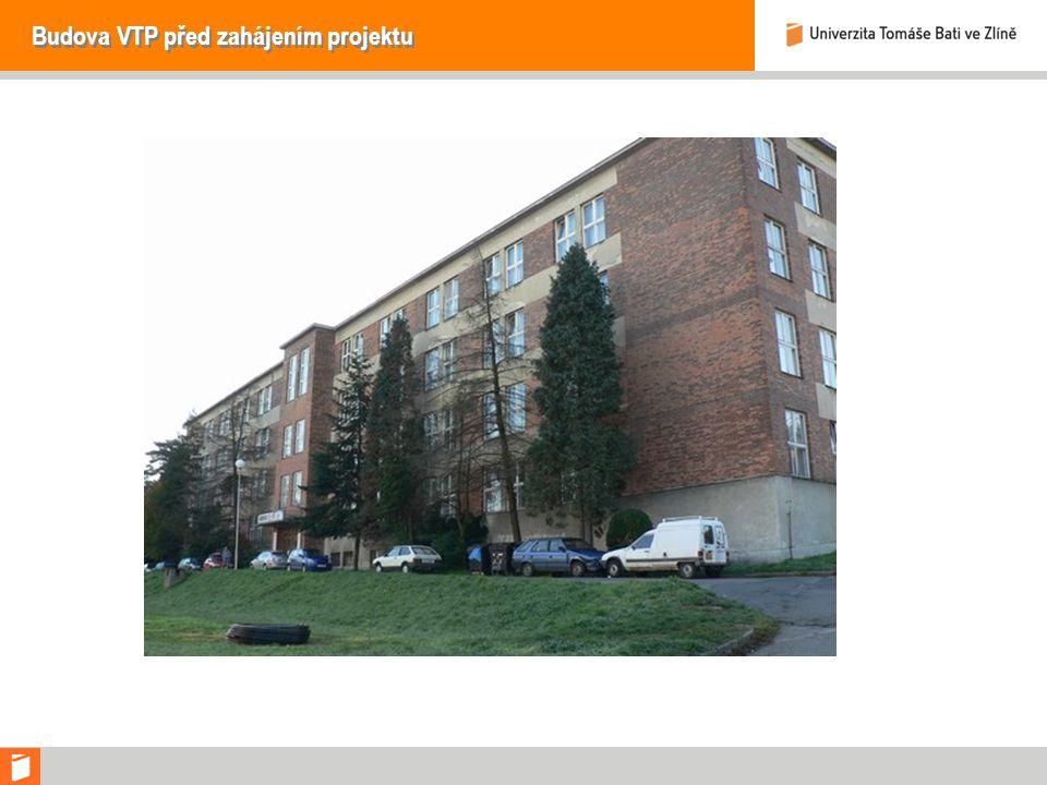 Budova VTP před zahájením projektu