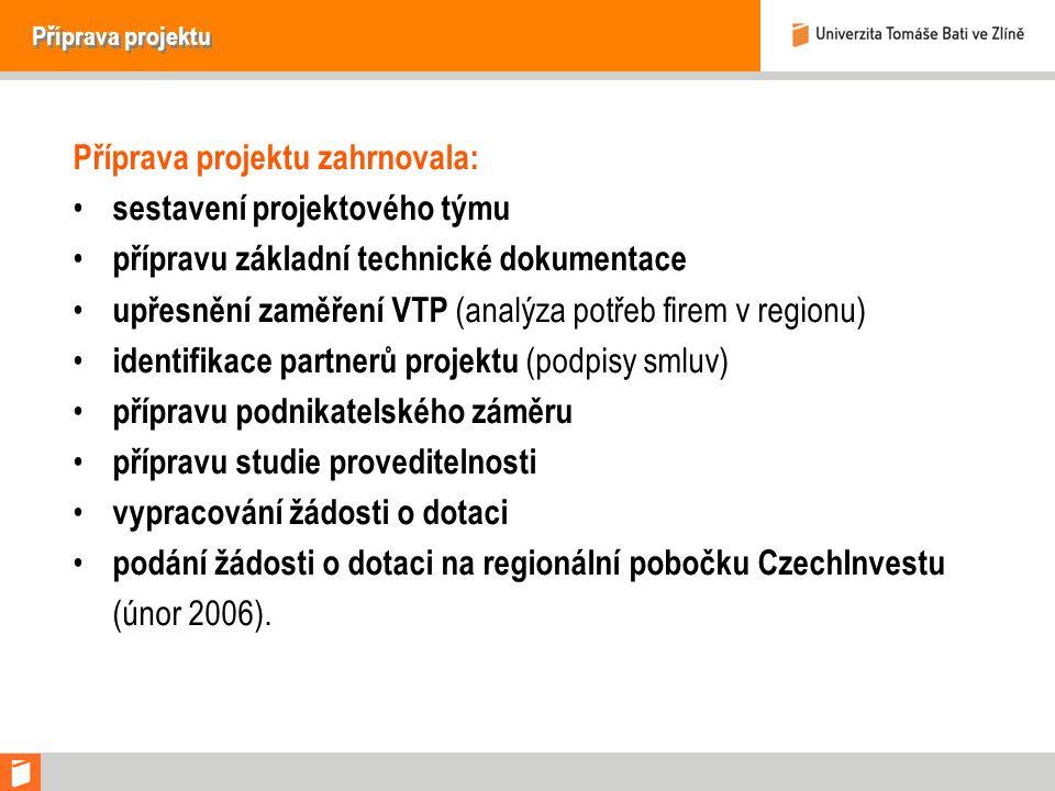Příprava projektu zahrnovala: sestavení projektového týmu