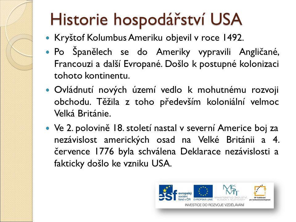 Historie hospodářství USA