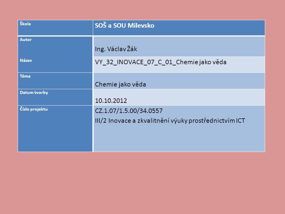 VY_32_INOVACE_07_C_01_Chemie jako věda