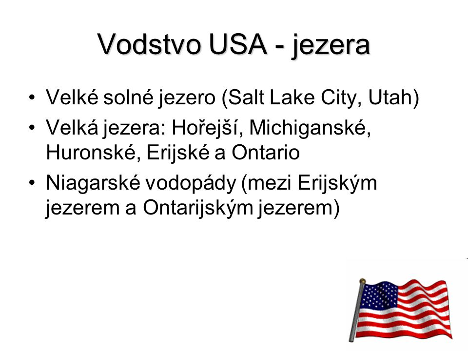 Vodstvo USA - jezera Velké solné jezero (Salt Lake City, Utah)