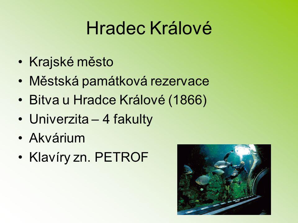 Hradec Králové Krajské město Městská památková rezervace