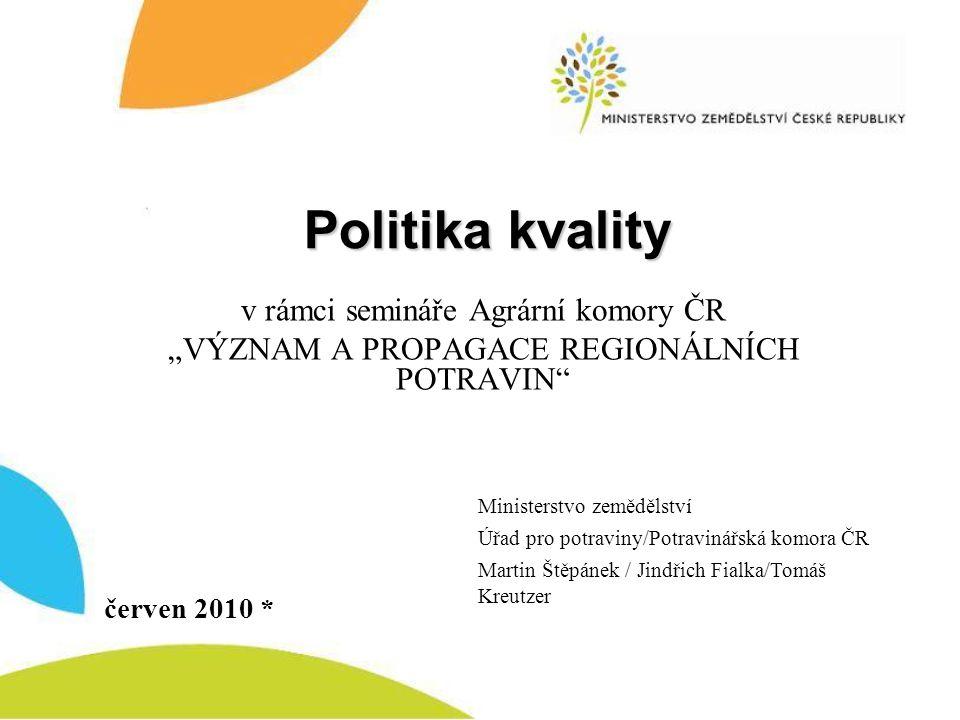 Politika kvality v rámci semináře Agrární komory ČR