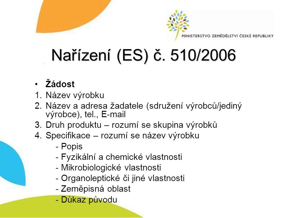 Nařízení (ES) č. 510/2006 Žádost Název výrobku