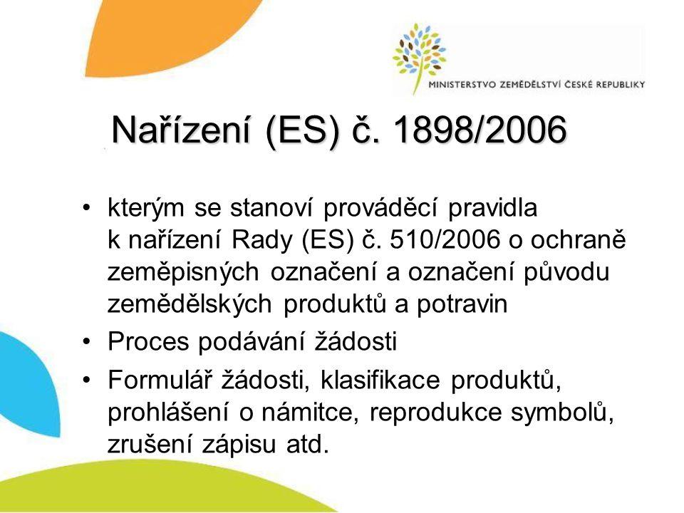 Nařízení (ES) č. 1898/2006