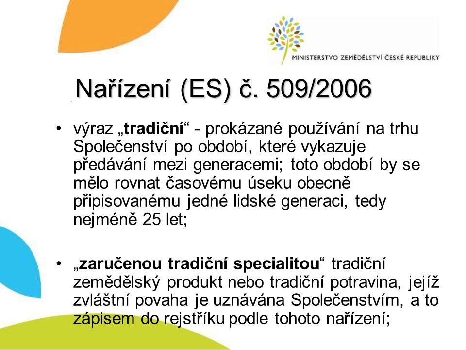 Nařízení (ES) č. 509/2006