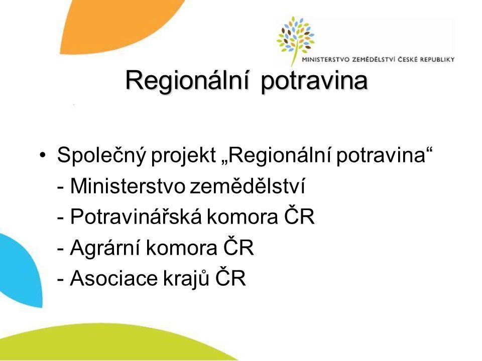 """Regionální potravina Společný projekt """"Regionální potravina"""
