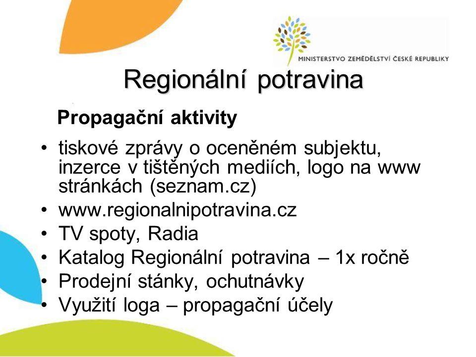 Regionální potravina Propagační aktivity