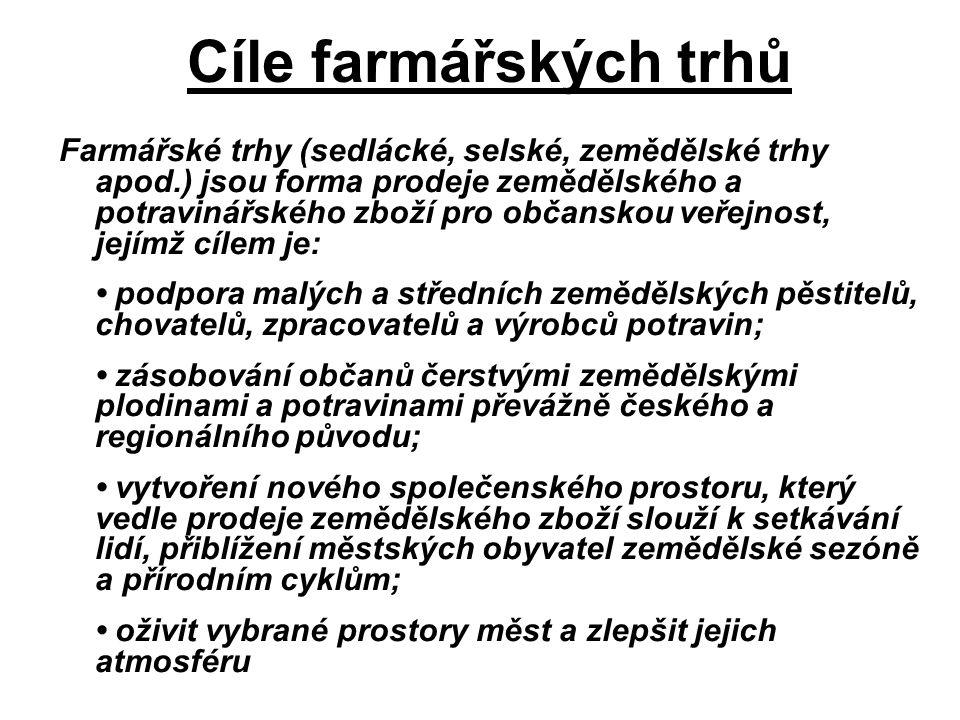 Cíle farmářských trhů