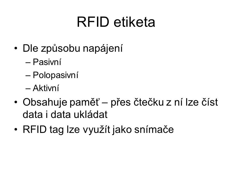 RFID etiketa Dle způsobu napájení