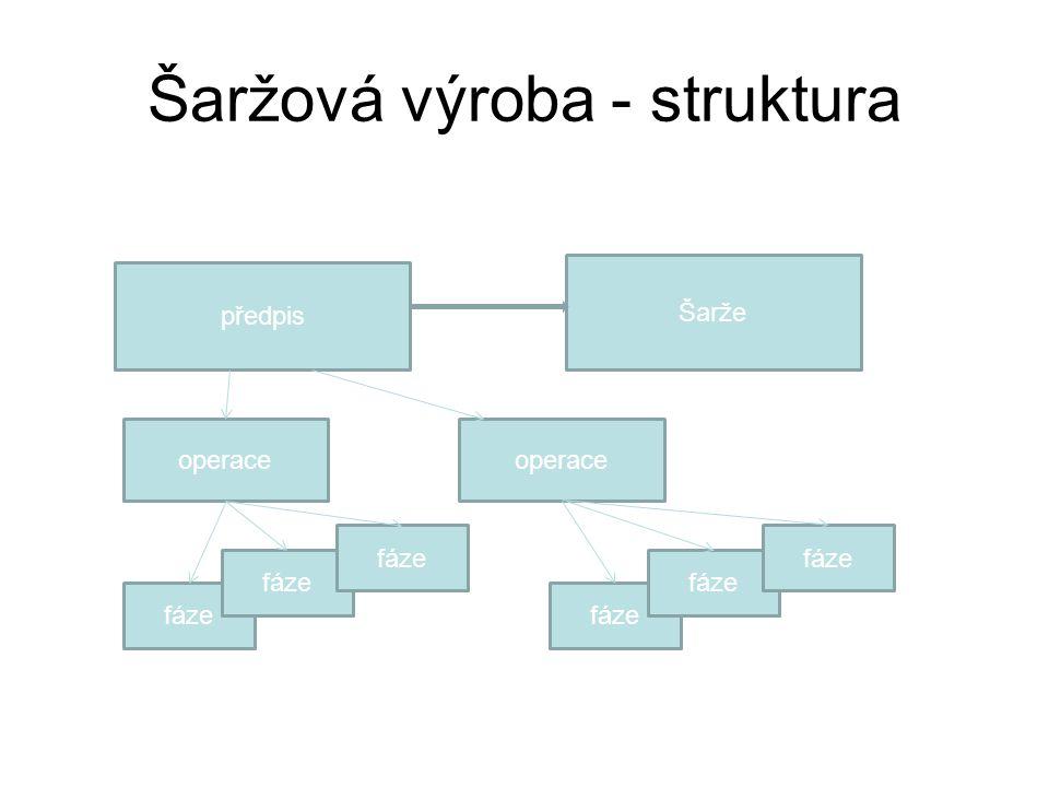 Šaržová výroba - struktura