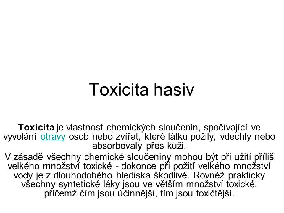 Toxicita hasiv