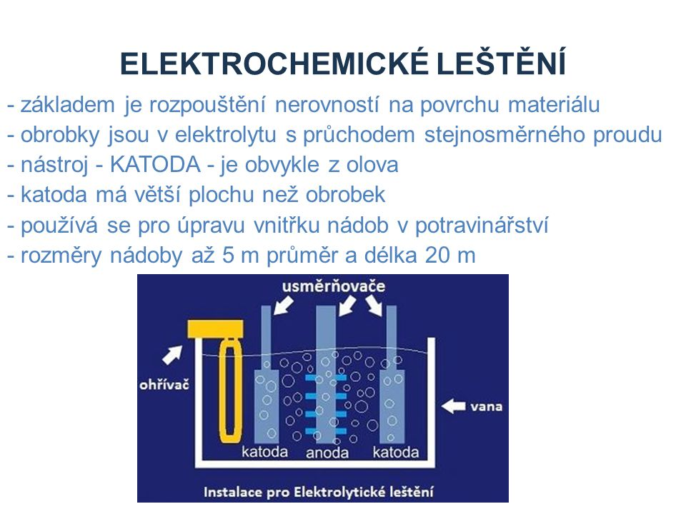 ELEKTROCHEMICKÉ LEŠTĚNÍ