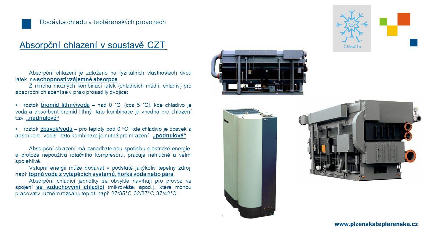 Absorpční chlazení v soustavě CZT