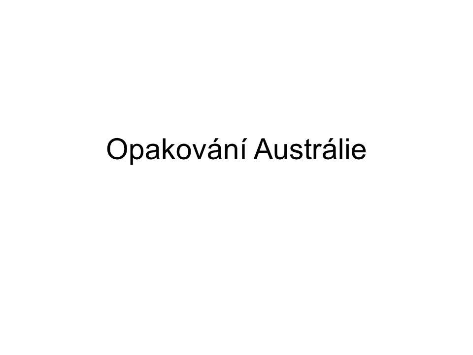 Opakování Austrálie