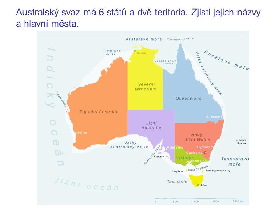Australský svaz má 6 států a dvě teritoria