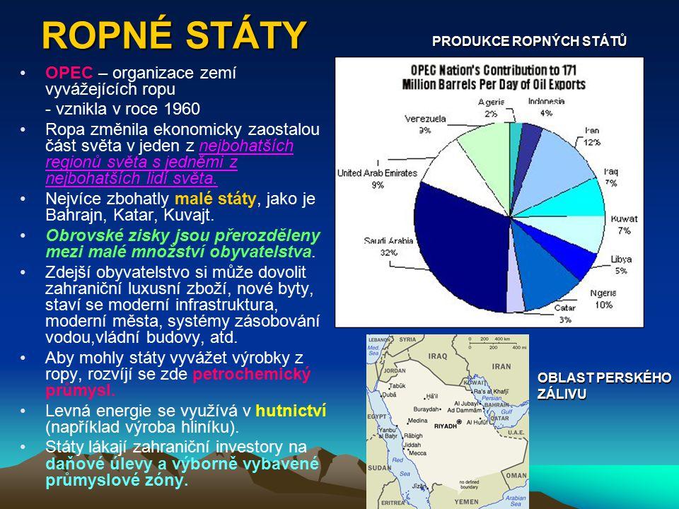 ROPNÉ STÁTY OPEC – organizace zemí vyvážejících ropu