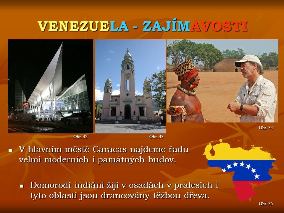 VENEZUELA - ZAJÍMAVOSTI