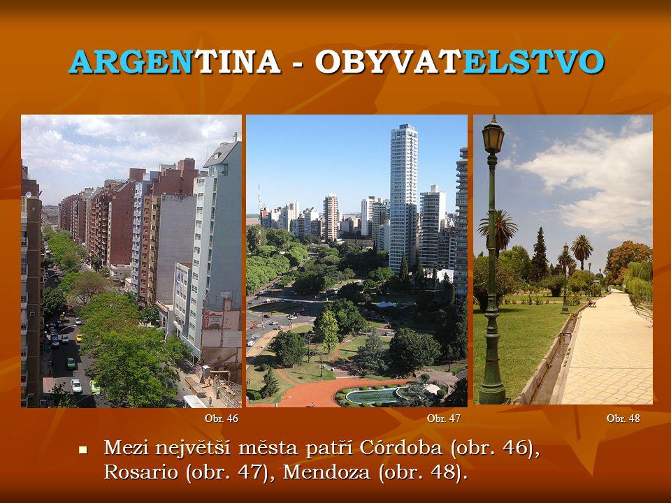 ARGENTINA - OBYVATELSTVO