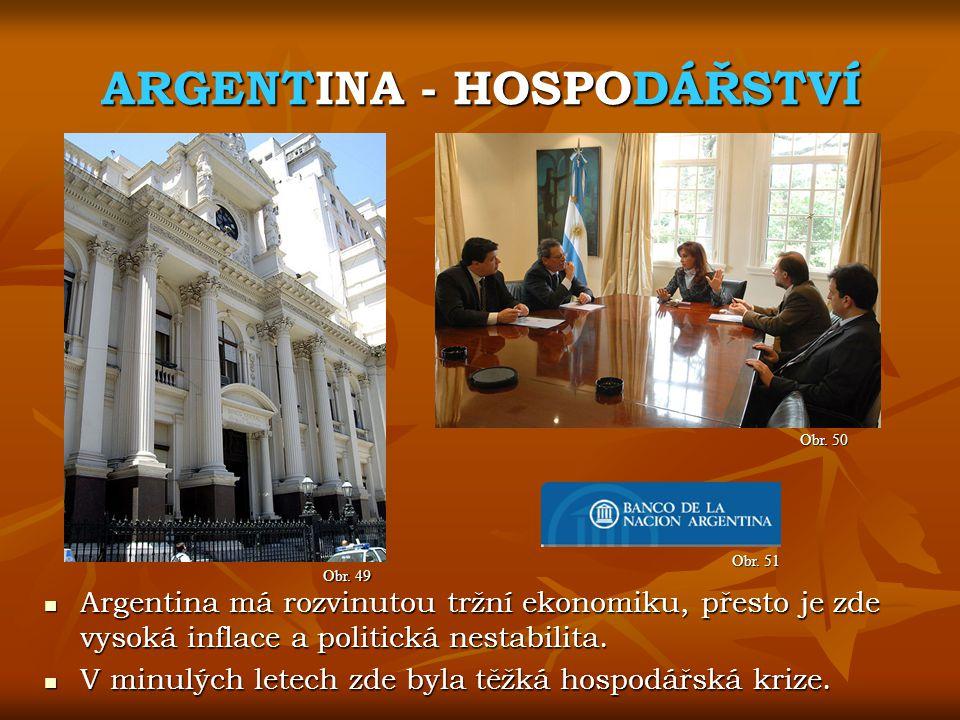 ARGENTINA - HOSPODÁŘSTVÍ