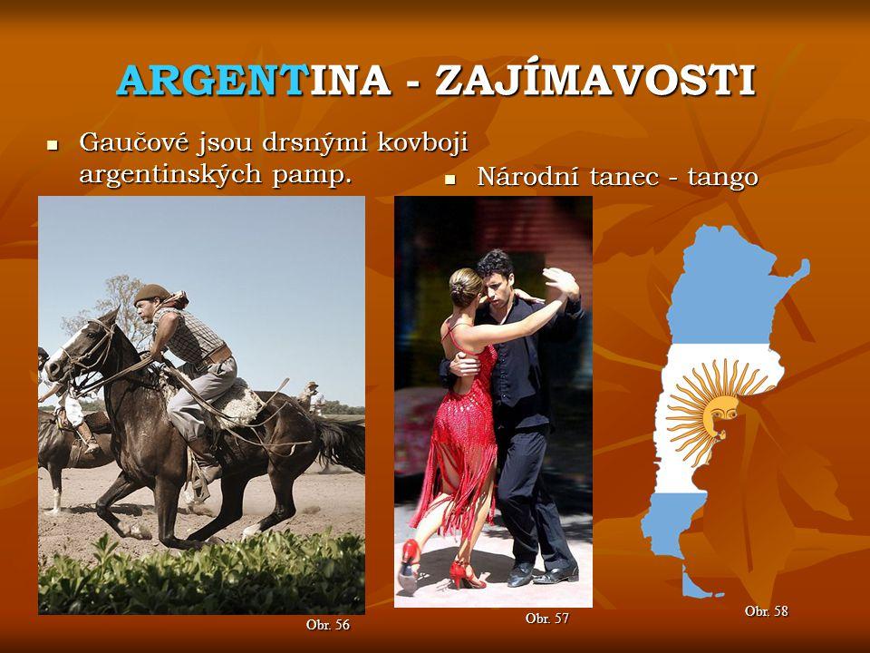 ARGENTINA - ZAJÍMAVOSTI