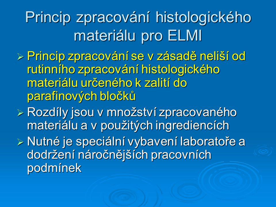 Princip zpracování histologického materiálu pro ELMI