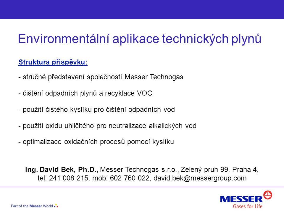 Environmentální aplikace technických plynů