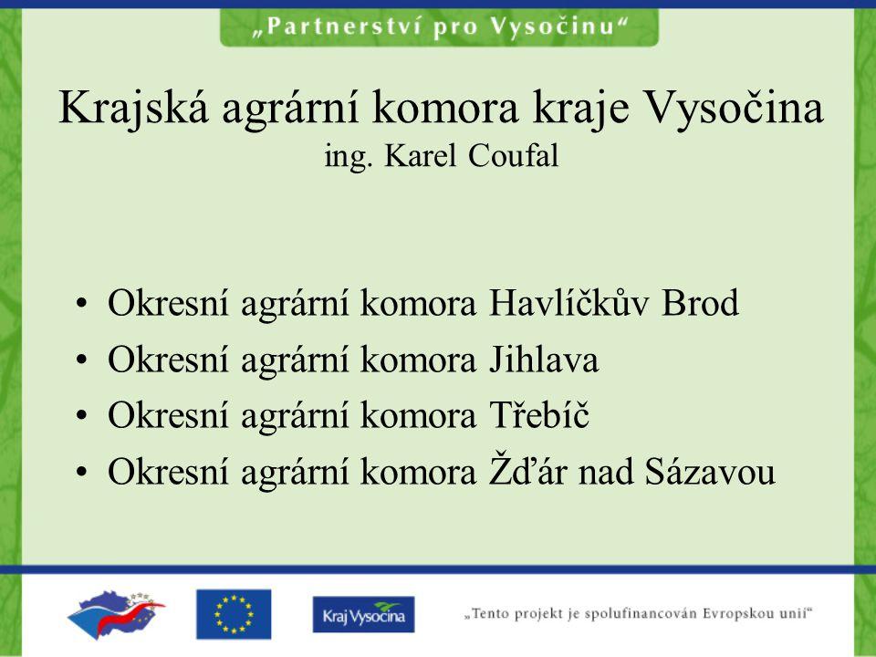 Krajská agrární komora kraje Vysočina ing. Karel Coufal