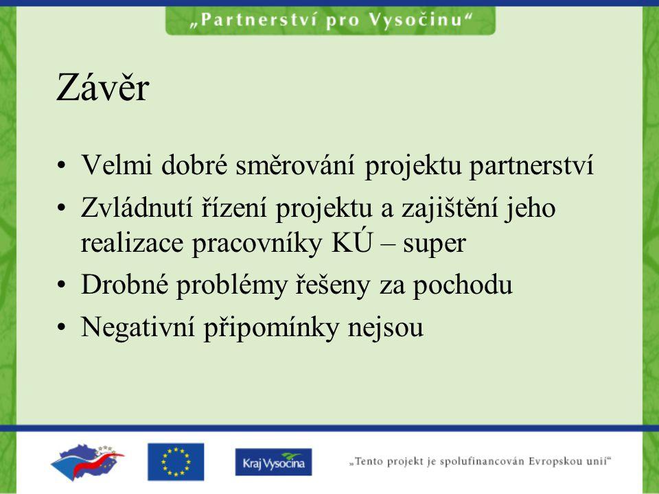 Závěr Velmi dobré směrování projektu partnerství
