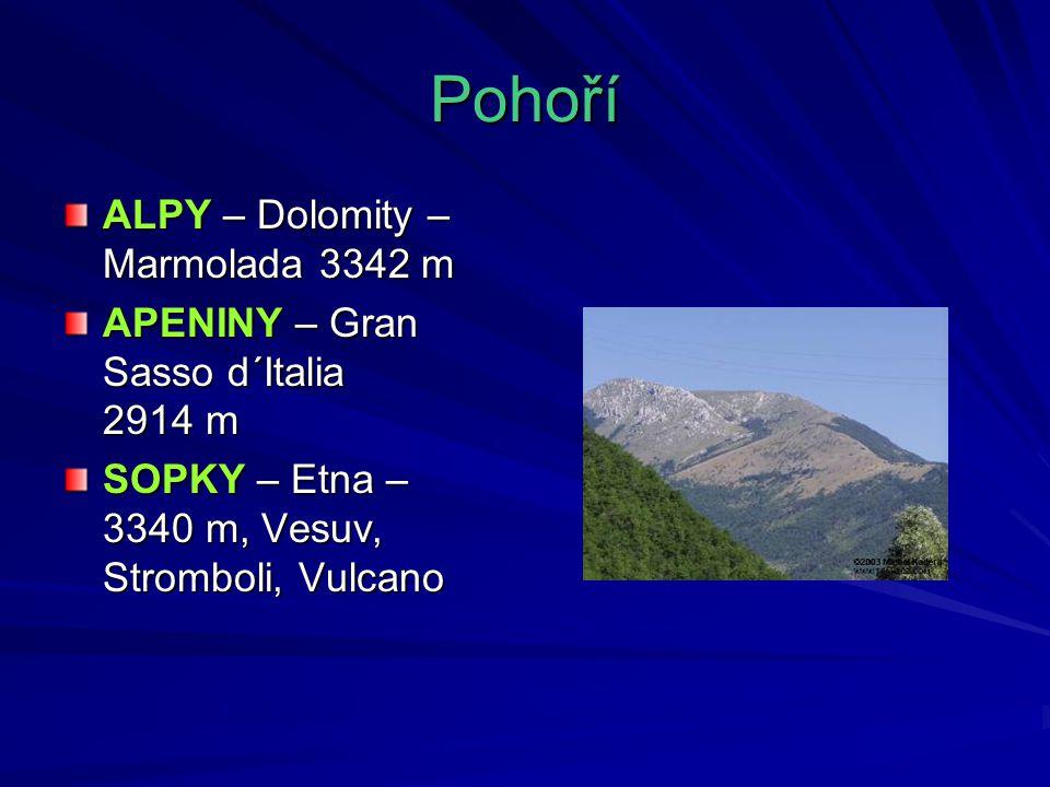 Pohoří ALPY – Dolomity – Marmolada 3342 m