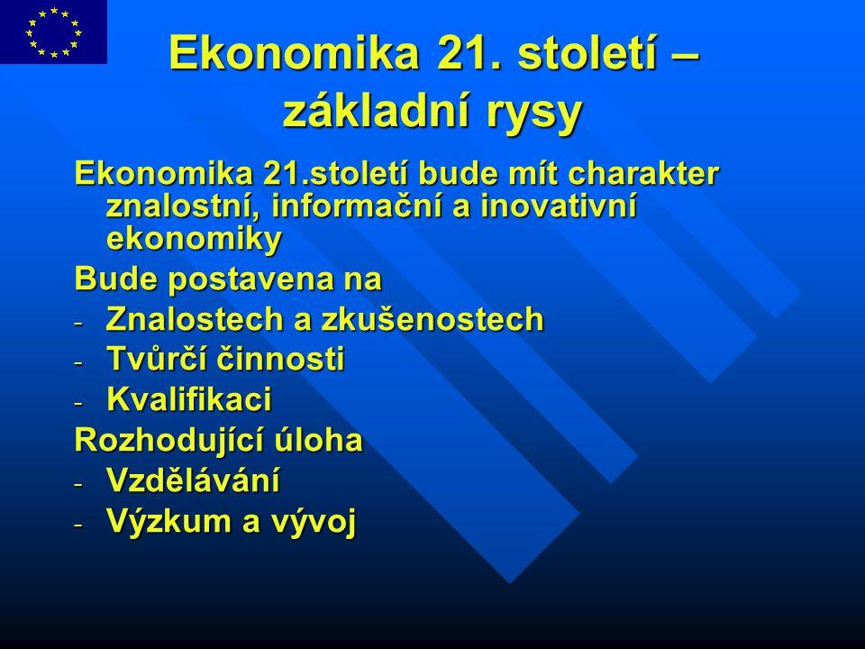 Ekonomika 21. století – základní rysy