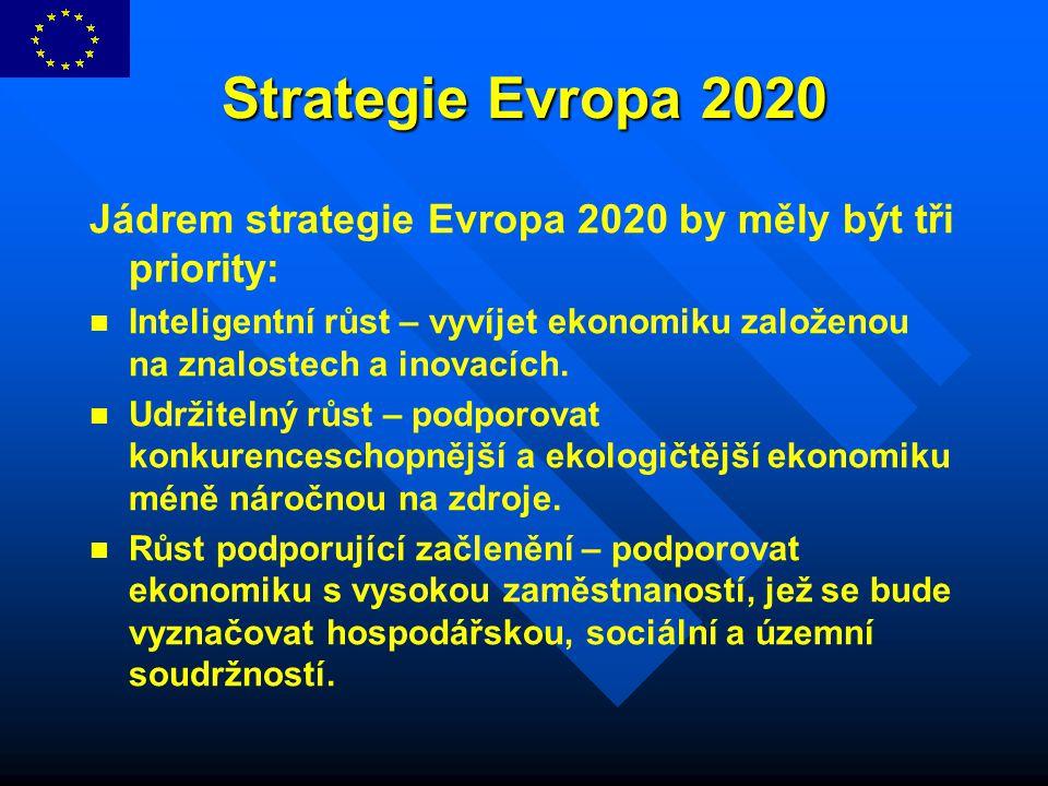 Strategie Evropa 2020 Jádrem strategie Evropa 2020 by měly být tři priority: