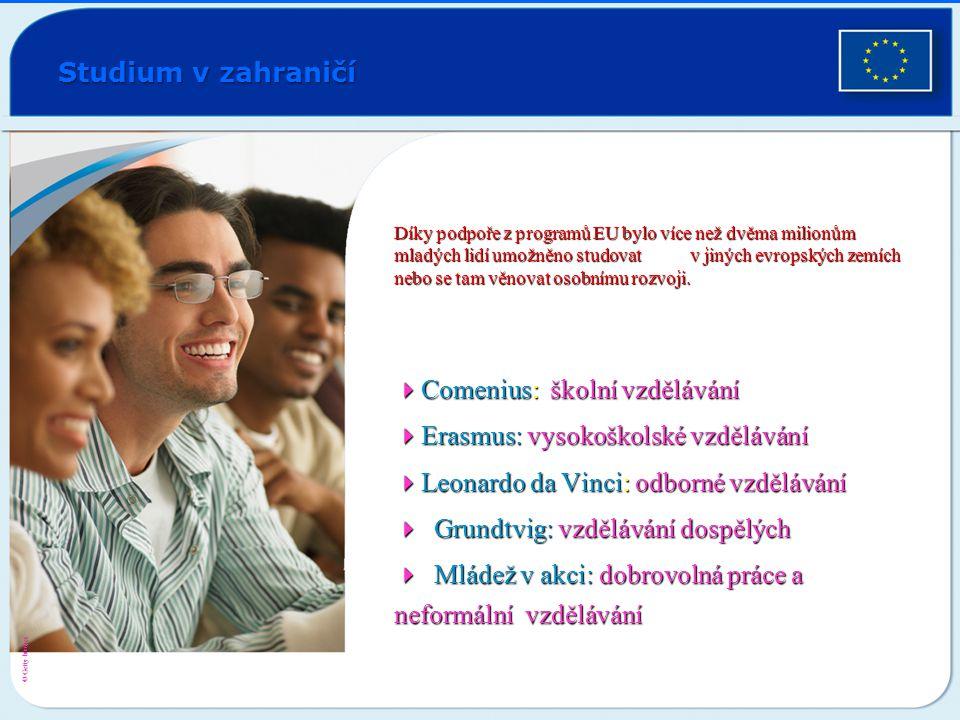 4Comenius: školní vzdělávání 4Erasmus: vysokoškolské vzdělávání