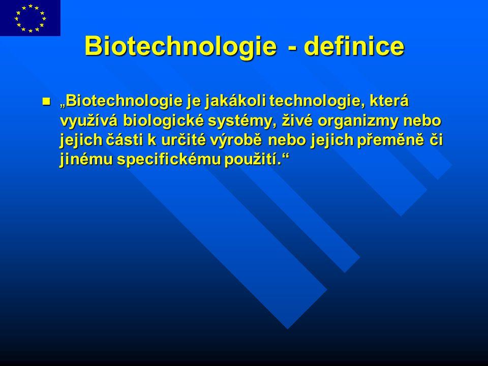 Biotechnologie - definice