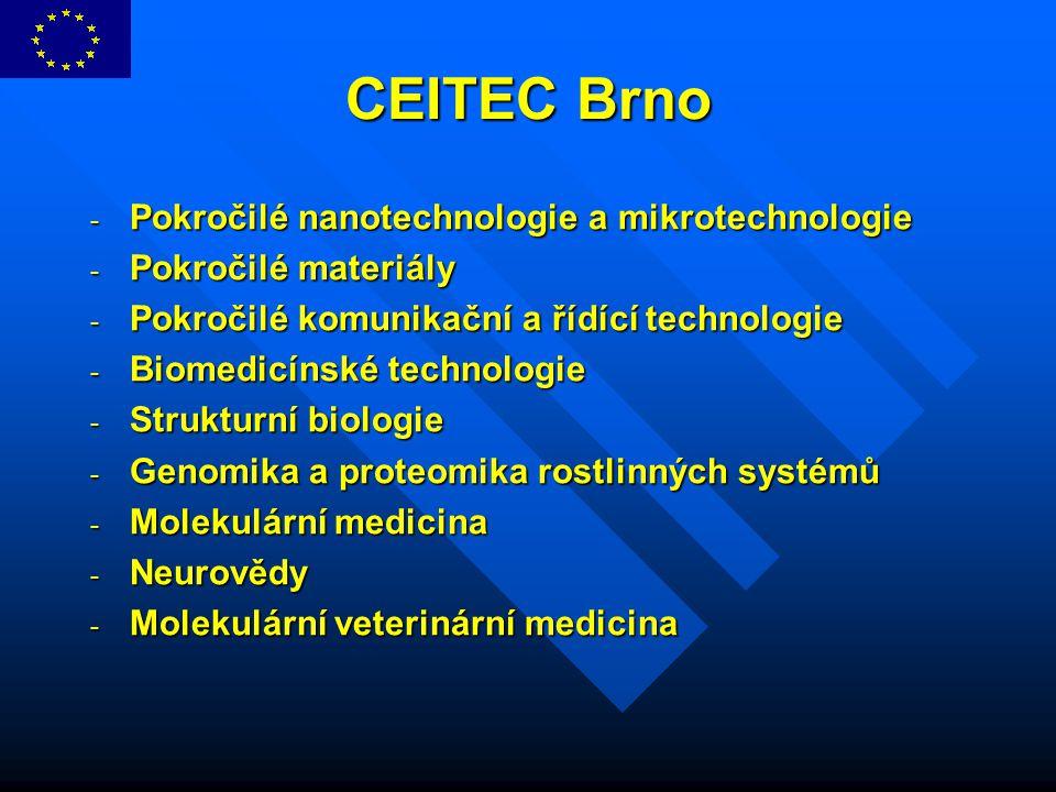CEITEC Brno Pokročilé nanotechnologie a mikrotechnologie