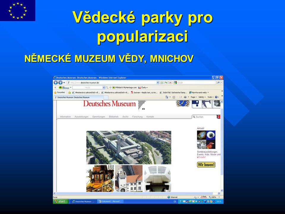 Vědecké parky pro popularizaci