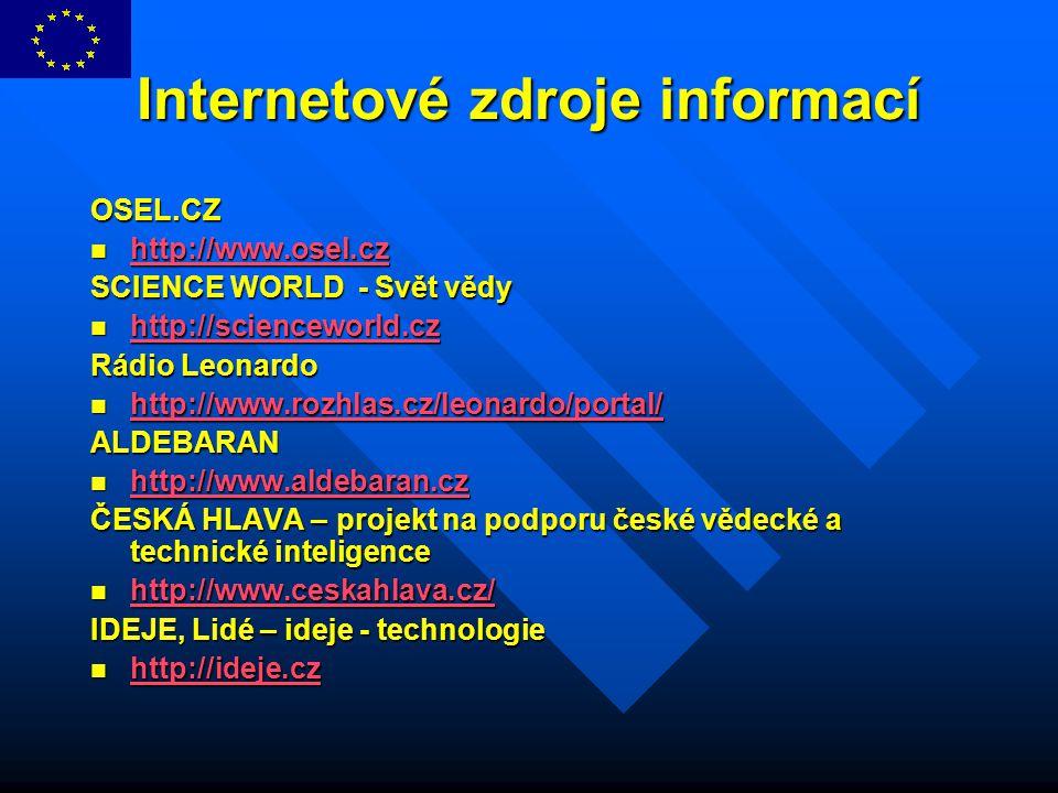 Internetové zdroje informací