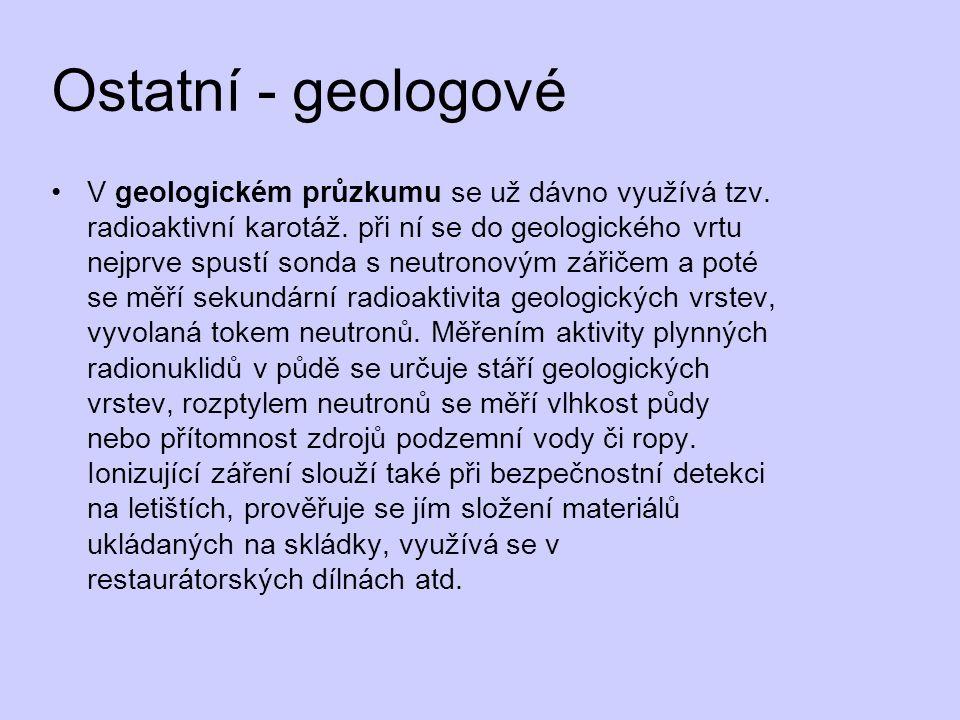 Ostatní - geologové