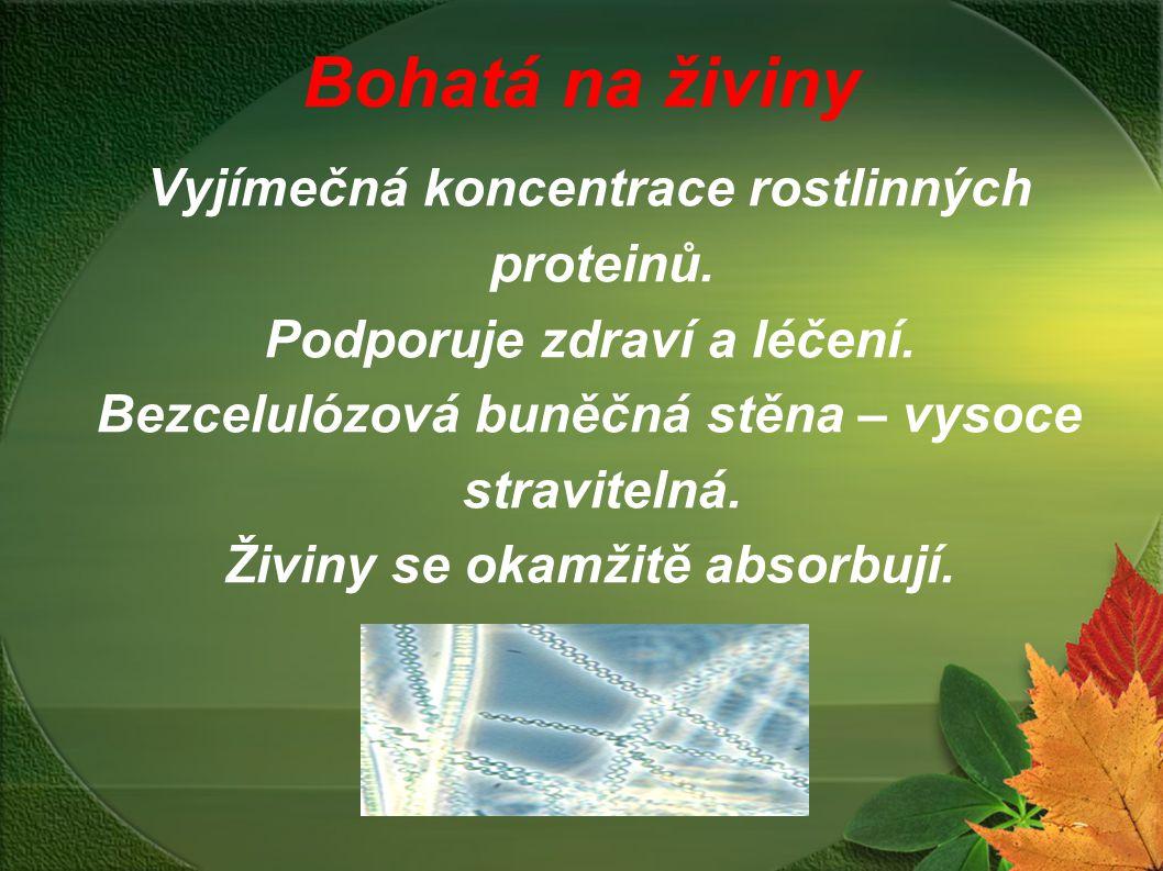 Bohatá na živiny Vyjímečná koncentrace rostlinných proteinů.