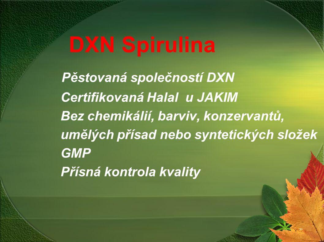 DXN Spirulina Pěstovaná společností DXN Certifikovaná Halal u JAKIM