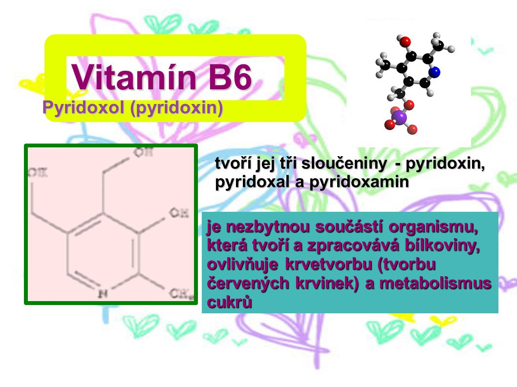 Vitamín B6 Pyridoxol (pyridoxin)