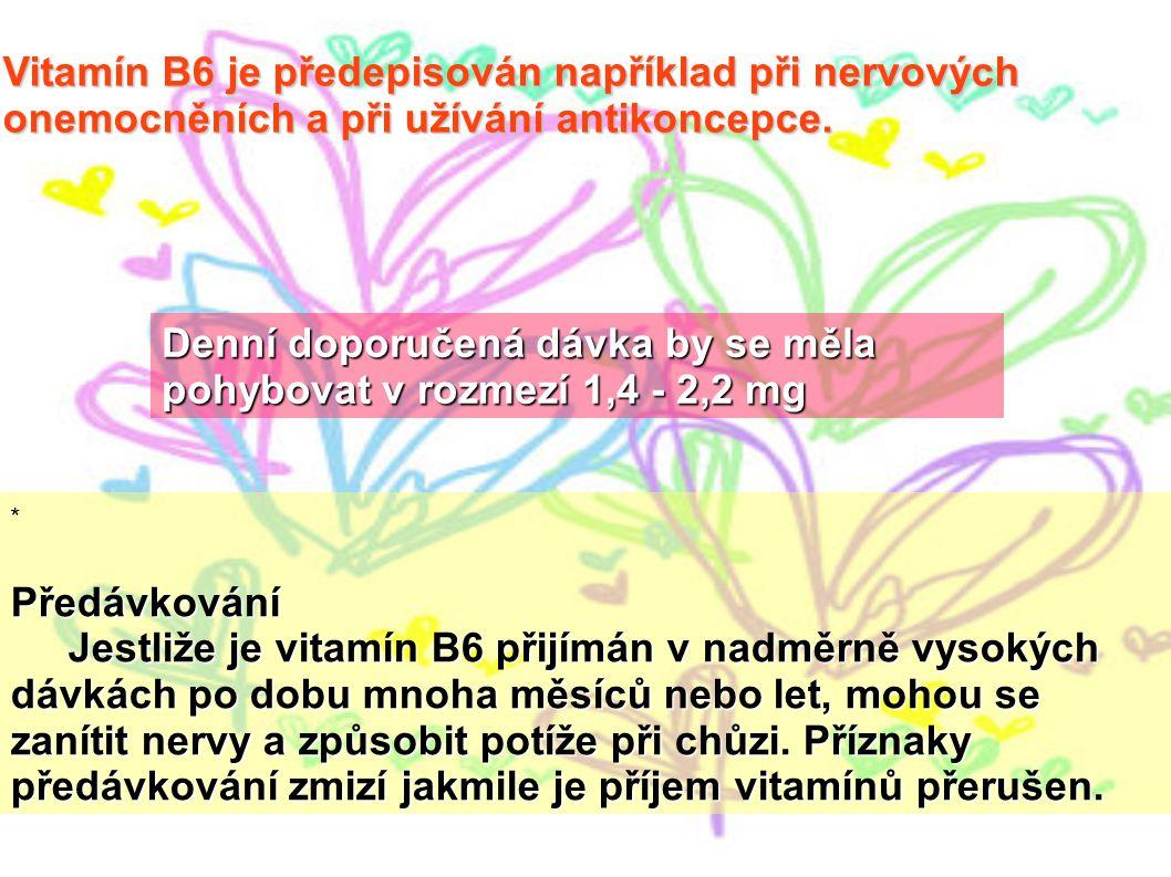Denní doporučená dávka by se měla pohybovat v rozmezí 1,4 - 2,2 mg