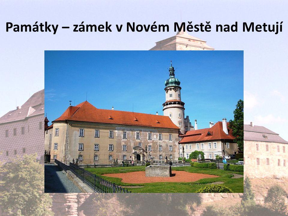 Památky – zámek v Novém Městě nad Metují