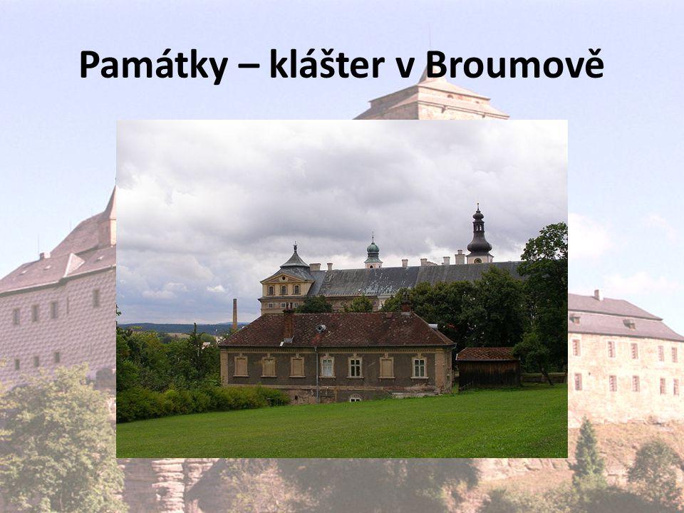 Památky – klášter v Broumově