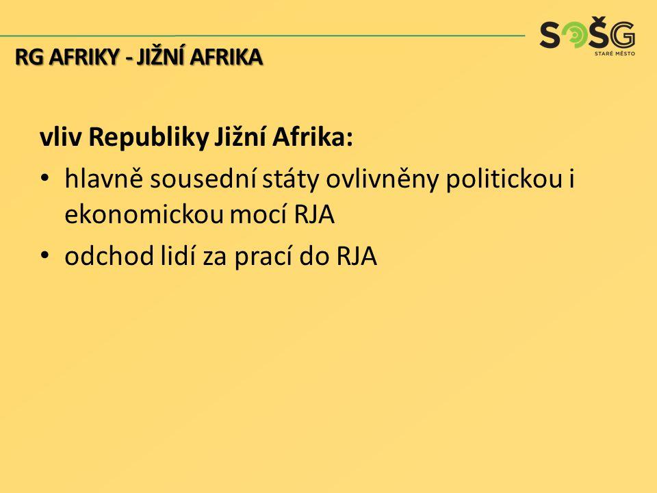 vliv Republiky Jižní Afrika: