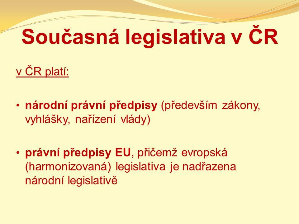 Současná legislativa v ČR