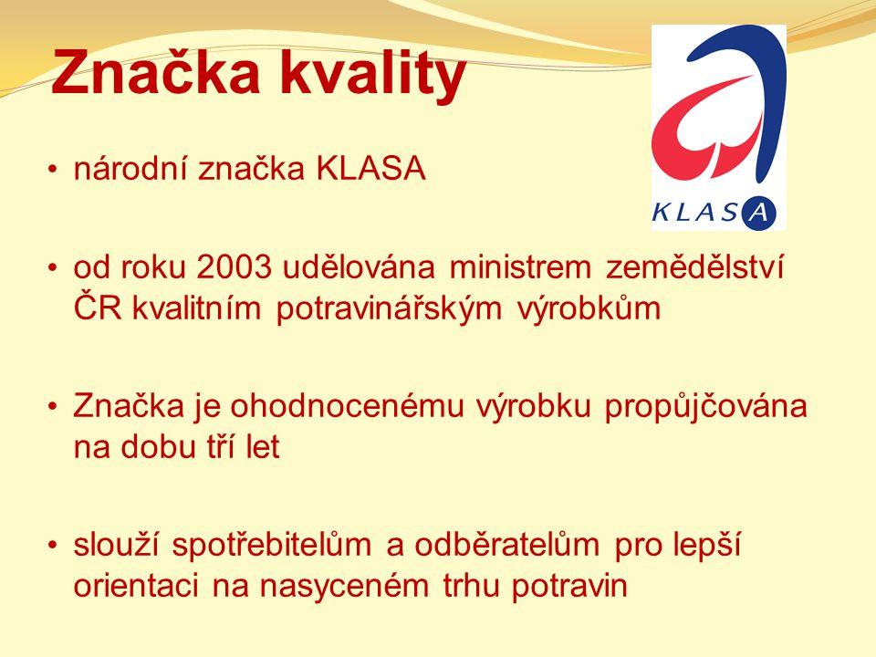 Značka kvality národní značka KLASA