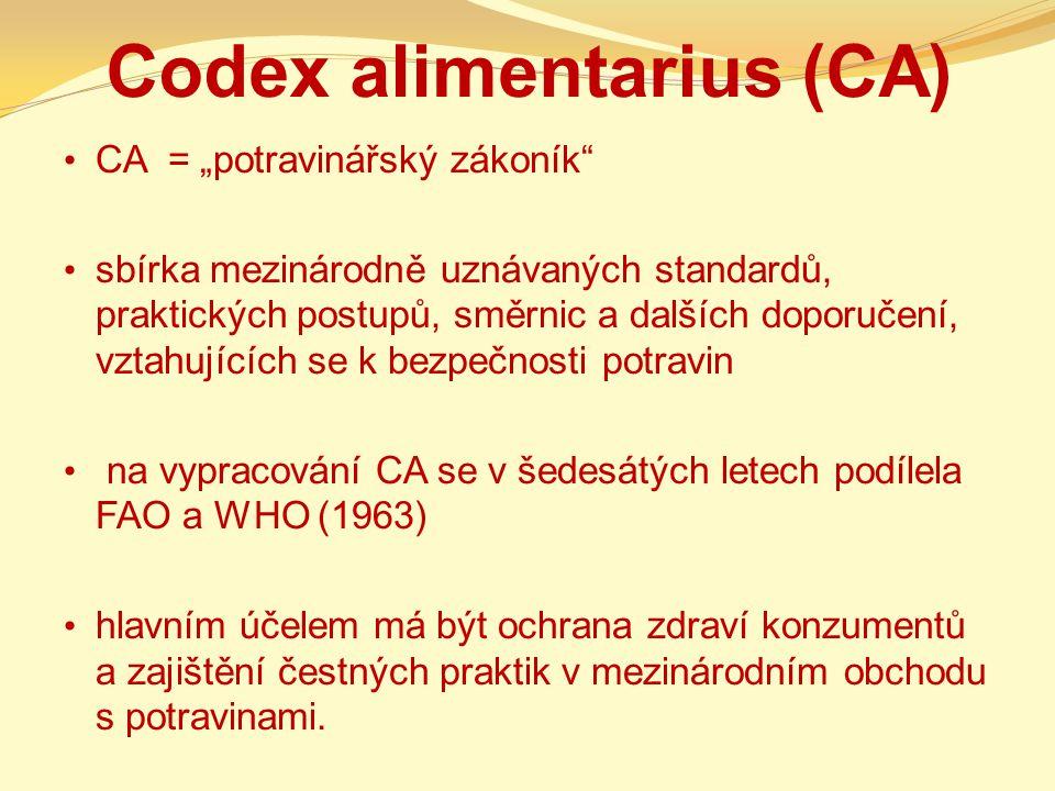Codex alimentarius (CA)